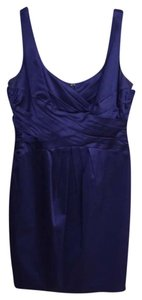 Jones New York Blue Satin Ork Cocktail Dress