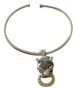 Jaguar Cable Necklace Goldtone Jaguar Cable Necklace Goldtone