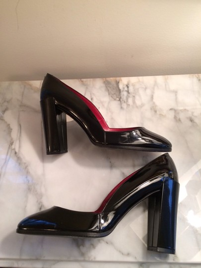 Pierre Hardy D'orsay Heels Patent Leather 7.5 French Made In Italy Black Pumps