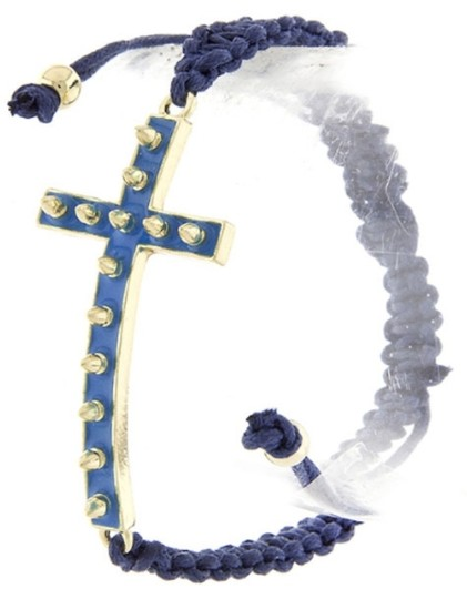 Other Studded Cross Weave Bracelet