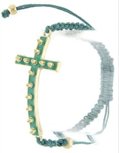 Studded Cross Weave Bracelet