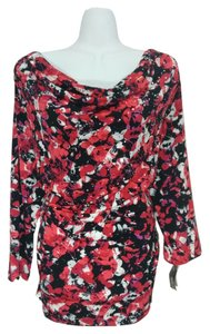 Style & Co Shirt Top Red & black