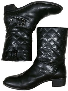 Aquatalia by Marvin K. Short Boot Quilted Waterproof Black Boots