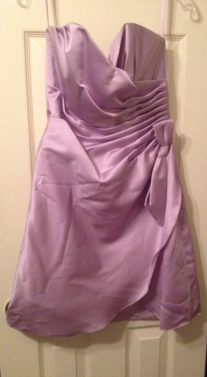 Impression Bridal Lavender / Lilac Polyester Formal Bridesmaid/Mob Dress Size 8 (M)