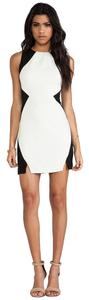 Keepsake the Label short dress Black / Ivory White on Tradesy