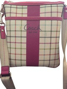 Coach Monogram Multi Color Cross Body Bag