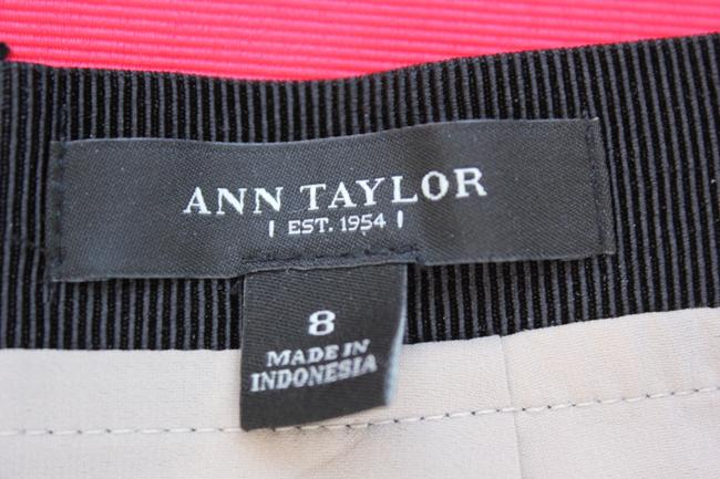Ann Taylor Skirt Black and Tan Print
