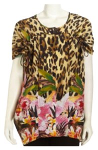 Lafayette 148 New York Top Animal Print, Floral