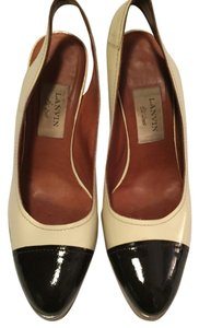 Lanvin Pumps Nautical Tan Platforms