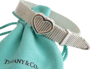 Tiffany & Co. Tiffany & Co Sterling Silver Mesh Somerset Heart Buckle Bracelet