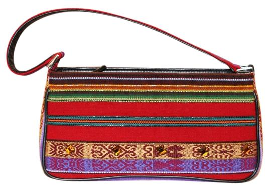 Isabella Fiore Handbags Clutch Wool Leather Baguette