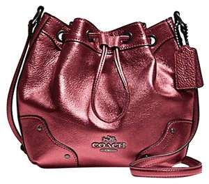 Coach Leather Classic Drawstring Shoulder Bag