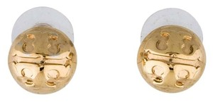 Tory Burch Gold-tone Tory Burch Reva logo round stud earrings