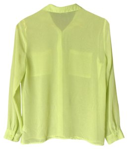 Forever 21 Button Down Shirt Neon Green