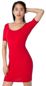 American Apparel short dress Red Summer Stretchy on Tradesy