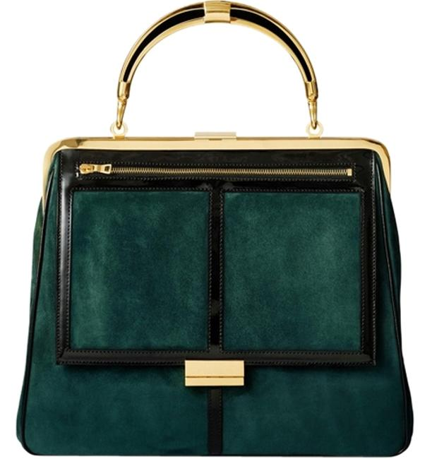 Item - Suede Sold Out Leather Green Satchel