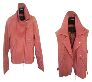 Louis Vuitton Leather Vest Bomber Pink Leather Jacket