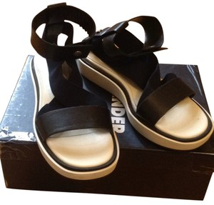 Jil Sander Night blue and black Sandals