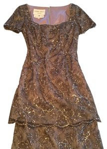 Liancarlo Couture by Saks 5th Ave Sequins Beading Lace 3 Tiered Floor Length Dress