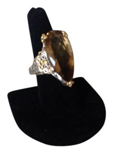 Other 1.5 TCW Art Deco Designer Natural Diamond Cluster Ring In 14kyellow gold with white gold mounting and prongs