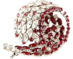 Guy Laroche Vintage Guy Laroche Ruby and Clear Crystal Brooch/Pin