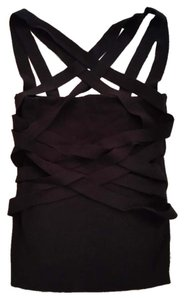 BCBGMAXAZRIA Bcbg Sleeveless Date Night Knit Fitted Top Black