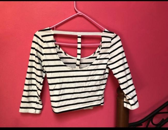 Charlotte Russe Coke Top White and black