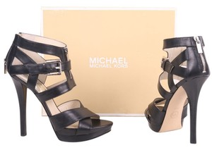 MICHAEL Michael Kors Anya Zippered Platform Black Sandals