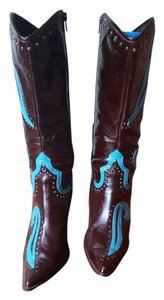 Dollhouse Brown/Turquoise Boots