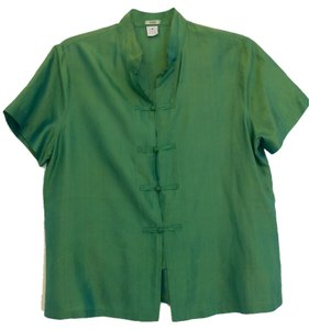 dosa 100% Silk Top Green
