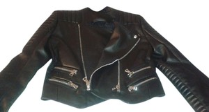 Balmain Leather Lamb Skin Motorcycle Jacket