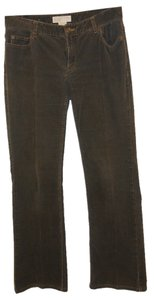 Michael Kors Leg Straight Pants Dark Green Corduroy