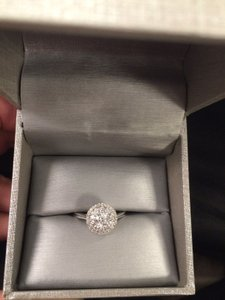 Zales Zales Brilliant Diamond Double Frame Engagement Ring. 3/4ct 14k White Gold