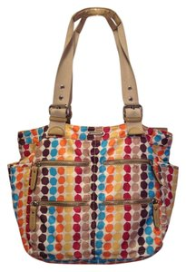 Franco Sarto Beach Colorful Diaper Tote in Multi Color