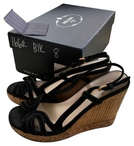 Prada Blac Wedges