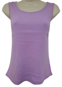 Faded Glory Comfortable Ribbed Cotton Top Lilac