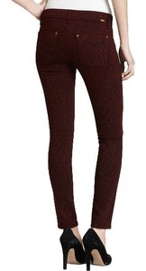 DL1961 Denim Animal Print Skinny Jeans-Dark Rinse