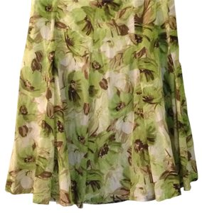 Banana Republic Skirt Green Brown Cream