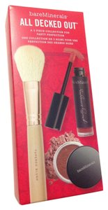 bareMinerals Bare minerals all decked out 3 pcs set lip gloss face color brush