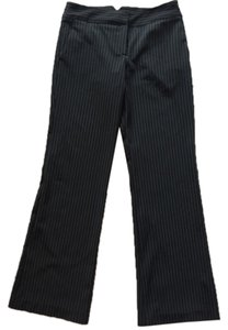 BCBG Paris Straight Pants Black and White Stripes
