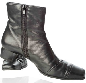 Paul Green Leather Zip Ankle Black Boots