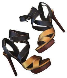 Lanvin Blue and gold Platforms