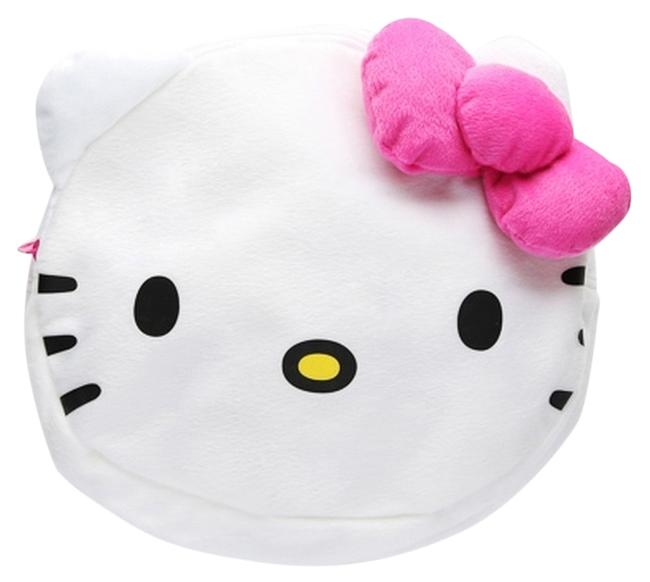 """Item - Sale - Sanrio Face Plush Head - 11"""" White Polyester Backpack"""
