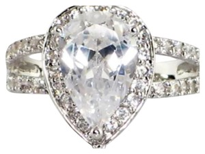 Other TODAY ONLY 3.8TCW Pear Shape 2/1 Ring