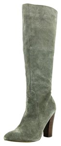 Cynthia Rowley Suede Knee High Suede Grey Boots
