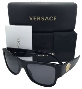 Versace New Polarized VERSACE Sunglasses VE 4275 GB1/81 58-18 140 Black Frame w/ Grey lenses