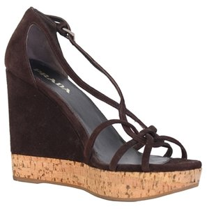 Prada Resort Collection BROWN Wedges