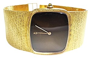 Corum CORUM Vintage 18 Karat Gold Mechanical Watch With Brown Dial