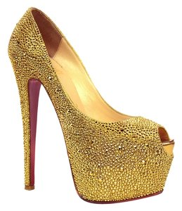 Christian Louboutin Highness Gold Pumps