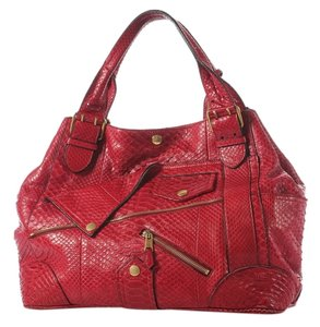 Alexander McQueen Am.j0702.02 Red Python Faithful Tote